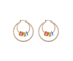 Multi Coloured Discs on Hoops
