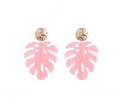 Palm Tree EARRINGS (Coral)