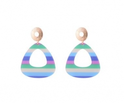 Candy Stripes EARRINGS (Blue)