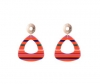 Candy Stripes EARRINGS (Red)